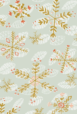 Katy Bloss Winter Forest Pattern Swatch