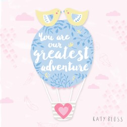 Katy Bloss Welcome baby Sneak Peek Balloon Lettering