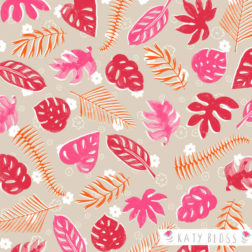 Katy Bloss Palm Leaves Pattern