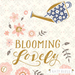 Katy Bloss Lace Notecard blooming Lovely Illustration