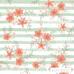 Katy Bloss Rosy Posy Pattern Design