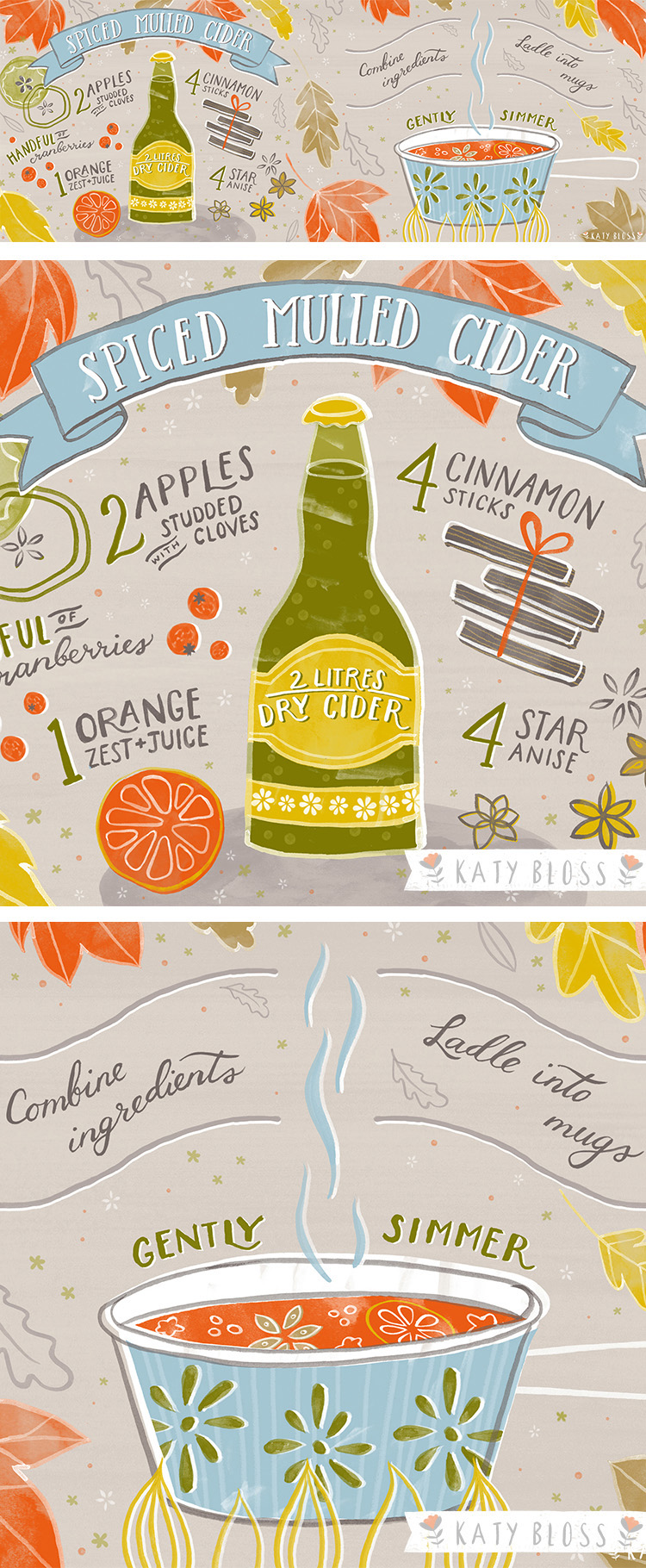 Katy Bloss Spiced Mulled Cider Illustrated Recipe