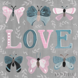 Katy Bloss Butterfly Love Greeting Card Design