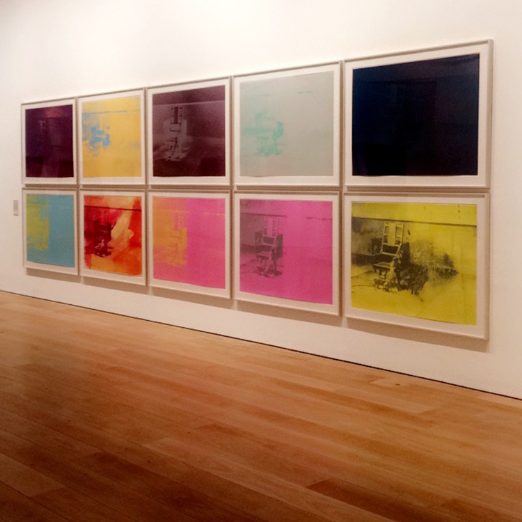 Andy Warhol at The Whitworth Manchester - Electric Chairs