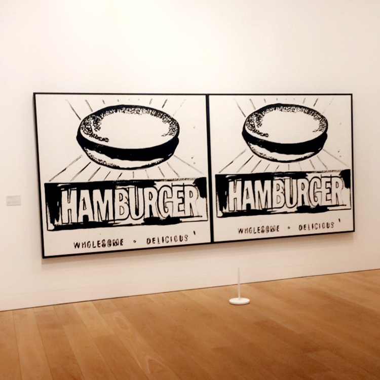 Andy Warhol at The Whitworth Manchester - Hamburger