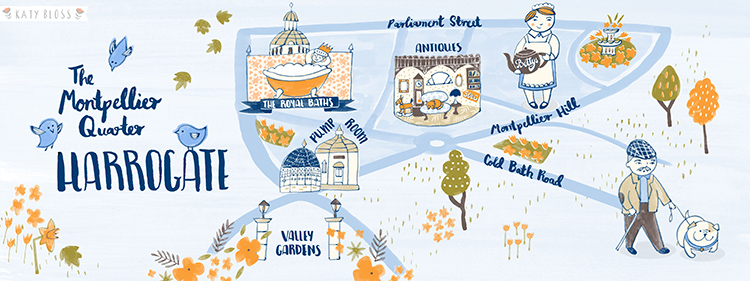 Katy Bloss Harrogate Map Illustration