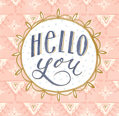 Katy Bloss Hellow You Hand Lettering